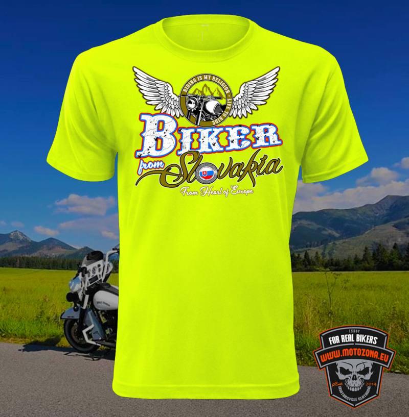 97991ff8eb3f Motorkárske tričko Biker from Slovakia