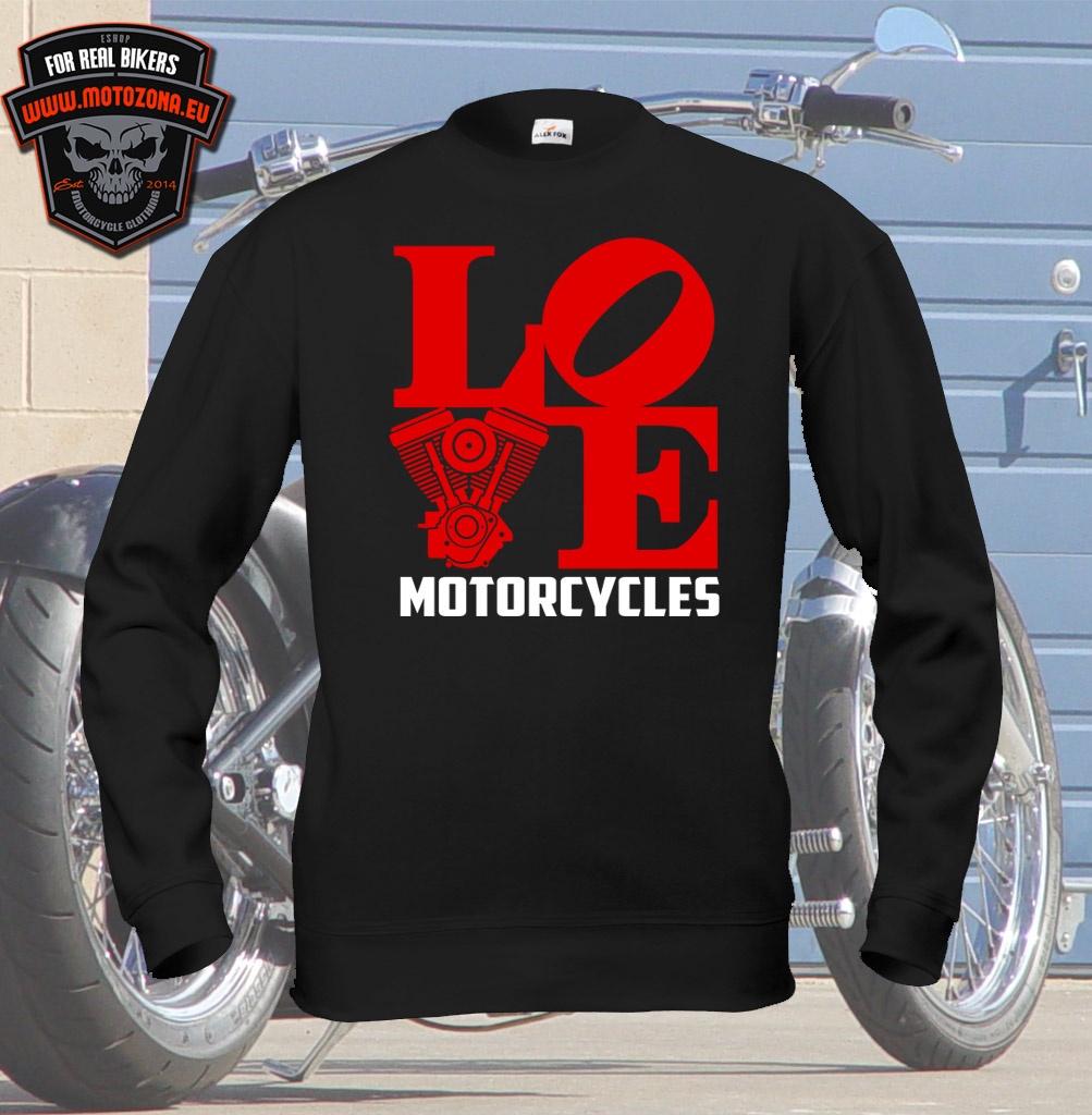 Mikina Love Motorcycles