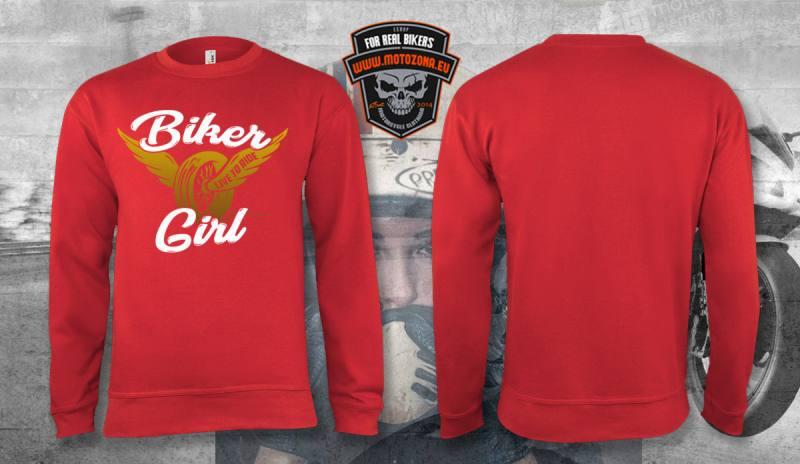Motorkárska mikina Biker Girl daa04bb8945